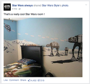 Star Wars Always post on Facebook