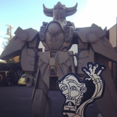 Bravo says hi to this Giant Robot in West Hollywood.